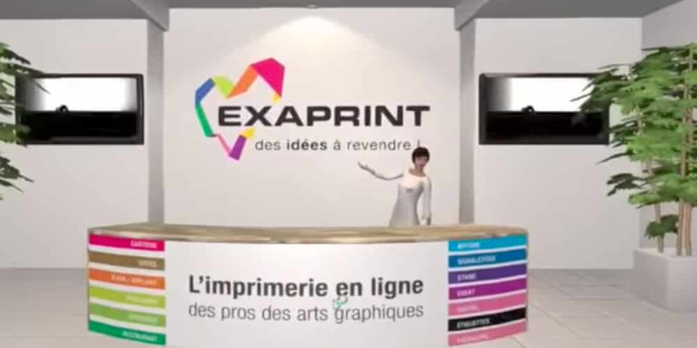 Showroom En Ralit Virtuelle 3D Pour Exaprint